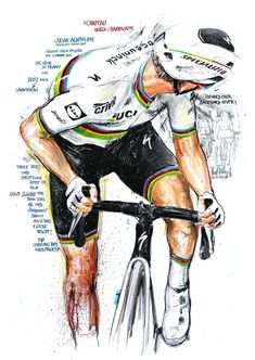 Cycle Painting, Sports Drawings, Cycling Art, Champion, Soccer, Tours, Spin, Anime, Veil