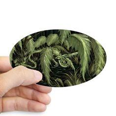 green leaf dragon Decal on CafePress.com
