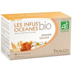 Thalgo Organic Serenity Infusion helps you relax and get a peaceful night's sleep by balancing the nervous system. The delightful flavors of lime and orange blossom have soothing and relaxing properties and verbena, traditionally, is used to help get a better night's sleep. This herbal tea has delicious natural honey and orange blossom flavors. Agriculture, Simmering Water, Green Algae, Natural Honey, Saveur, Orange Blossom, Herbal Tea, Body Care, Herbalism