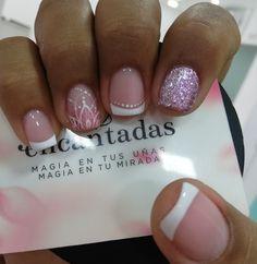 Colorful Nail Designs, Cool Nail Designs, Hair And Nails, My Nails, Precious Nails, Summer Acrylic Nails, Finger, French Nails, Nail Art