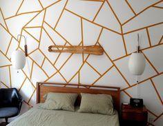 Pinta una pared con un diseño geométrico