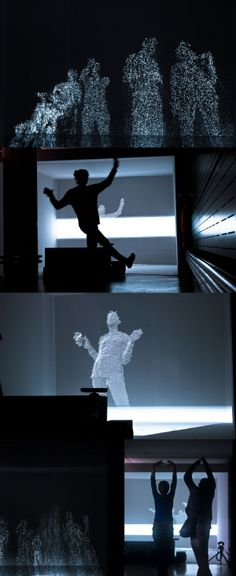 Passage, a Kinect+Processing installation by BonjourLab