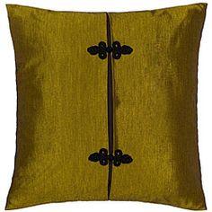 Gold and Black Thai Silk Cushion Cover