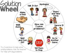 Help manage student behavior and encourage problem solving by providing students this freebie solution wheel.