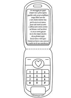Biglietto Festa del Papà a forma di cellulare - TuttoDisegni.com