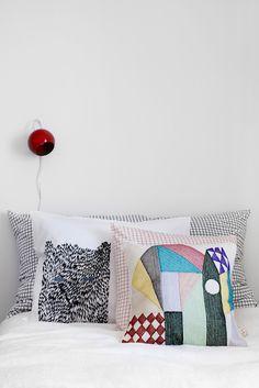 Red Lamp Home Bedroom Bedroom Nook Bedrooms Linen Bedding Cushion Covers