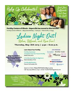Fertility Centers of Illinois - Event flyer