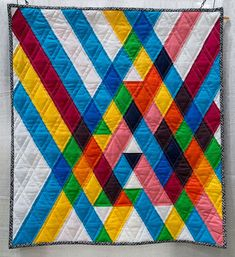 The Anglegorical Impulse by Emily Sherry, 2014   Modern Quilting Gallery   The Modern Quilt Guild   themodernquiltguild.com