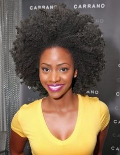 "(natural hair)...actor Teyonah Parris who stars as the character ""Dawn Chambers"" on AMC's award winning television series Mad Men"