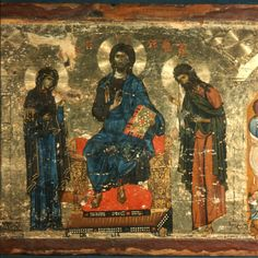 Deesis and Feasts · The Sinai Icon Collection Byzantine Icons, Byzantine Art, Byzantine Mosaics, Religious Icons, Religious Art, Ancient Scripts, Paint Icon, Icon Collection, Orthodox Icons