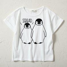 MPS ペンギンTシャツ キッズ(オフシロ-100)