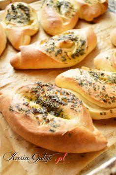 bułeczki z czosnkiem Bread Machine Recipes, Bread Recipes, Cooking Recipes, Czech Recipes, Ethnic Recipes, Polish Recipes, How To Make Bread, Bread Baking, Bagel
