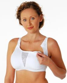 This is a very supportive full coverage nursing sports bra. The double-ply cups provide great support without compressing the breasts against the rib-cage, which would interfere with milk production.  #nursing #maternity #bra #pregnancy