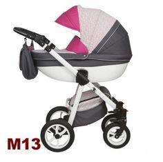 Moretti 3in1 babakocsi - M13 szürke-pink - Zsebi Babaáruház - Babakocsik 25eb43ff0e