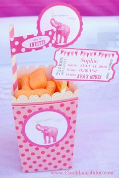 Polk-a-dots and Pachyderms Birthday Party Ideas   Photo 1 of 10   Catch My Party