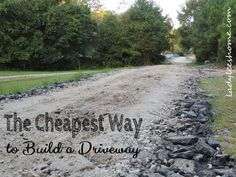 The Cheapest Way to Pave a Driveway #Driveway, #Frugal-Solutions, #Paving #Simple-and-Frugal-Living