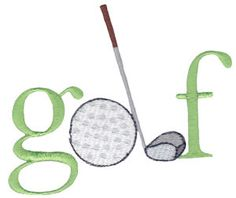 Tee Off embroidery designs at Bunnycup Embroidery - http://www.bunnycup.com/viewset.aspx?designset=672