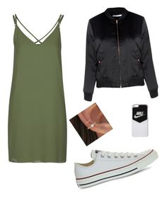 """""""my outfit for a wedding"""" by lifestyle-outfits on Polyvore featuring Topshop, Glamorous, Converse and NIKE"""