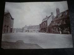 Large old photograph Bampton high street Oxfordshire c1900s | eBay