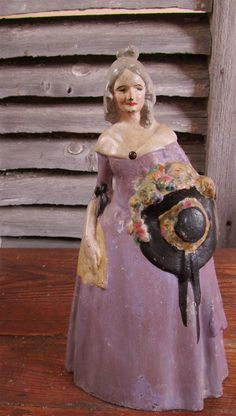 SALE Antique Cast Iron Lady Doorstop from by MiPiaceVintage, $85.00