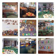 A las 10.00 de la mañana teníamos todo preparado para recibir la visita de las familias que asistían a la jornada de puertas abiertas. Colegio Ntra. Sra. Santa María. Madrid