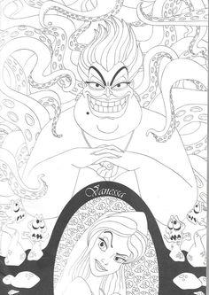 Disney Princess Coloring Pages, Mermaid Coloring Pages, Disney Princess Colors, Disney Colors, Cartoon Coloring Pages, Coloring Pages To Print, Coloring Book Pages, Coloring Sheets, Disney Crafts For Adults