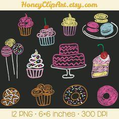 Prediseñadas de pizarra con cupcakes, donuts, macarons, tarta y otras ilustraciones de panadería.  ★ OBTENER 5 ELEMENTOS PARA $5 ★ Agregar cinco articulos a un precio de $3.50 USD y uso código 5FOR5 al finalizar la compra. ▬▬▬▬▬▬▬▬▬▬▬▬ DETALLES DEL PRODUCTO • Descompresor comprimido incluye 12 archivos de imagen PNG transparentes. • Cada imagen individual mide el lado más largo de 6 pulgadas a 300 DPI. ▬▬▬▬▬▬▬▬▬▬▬▬ CONDICIONES DE USO DE IMAGEN Por la compra de este producto (imágenes), se…