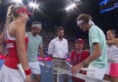A star-struck tennis fan was brought to tears the moment she got to meet RogerFederer. Lily, 10, was overcome with emotion as she came out to participate in the coin toss before a match in Perth.