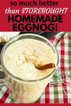This easy spiked homeade eggnog recipe has been a party favorite for years. Christmas Drinks, Holiday Drinks, Holiday Recipes, Party Recipes, Christmas Goodies, Fun Drinks, Christmas Recipes, Best Eggnog Recipe, Homemade Eggnog