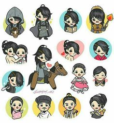 moon lovers shared by Mireyra Meraz on We Heart It Cartoon Drawings, Cute Drawings, Moon Lovers Drama, Scarlet Heart Ryeo Wallpaper, Korean Drama Best, Korean Art, Drama Korea, Cute Chibi, Guys And Girls