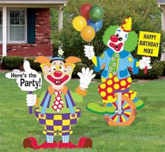 All Yard & Garden Projects - Clown Party Signs Pattern Set Clown Party, Circus Carnival Party, Circus Theme Party, Party Props, Party Signs, Party Themes, Party Ideas, Clowns For Birthday Parties, Circus Birthday