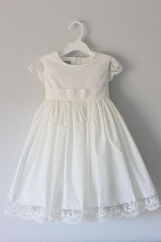 Vintage inspired ivory cotton flower girl dress baby by autoalive vintage inspired ivory cotton flower girl dress baby by autoalive wedding pinterest flower girl dresses girls dresses and ivory mightylinksfo