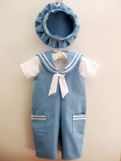 Sailor baby boy outfit baptism / christening baby boy by Graccia, $75.00