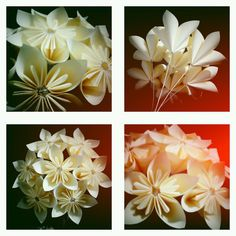 Origami - Kusudama flowers - made from post-it notes!