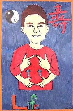 Deaf Art lesson - great for deaf students; self-portrait and American Sign Language ASL...