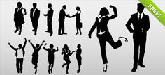 http://www.victoo.net/free-business-people-silhouettes-583.html