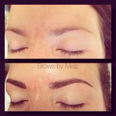 Brows by Melz *eyebrow* cosmetic* tattoo* before and after*