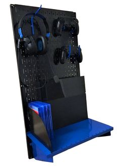 Video Game Room Organization Wall Control Pegboard is the perfect storage for video games! With easy access hang up your headset Video Game Organization, Video Game Storage, Wall Organization, Easy Storage, Video Game Shelf, Storage Organizers, Video Game Rooms, Video Games, Video Game Bedroom
