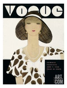 Vogue Cover - June 1930 Regular Giclee Print by Harriet Meserole at Art.com