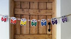 Floral Rainbow VW Campervan Bunting by Grace's Favours