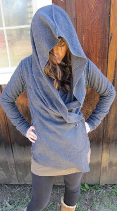 fleece yoga wrapcan be worn 5 different ways by MeandD on Etsy. $95.00, via Etsy.