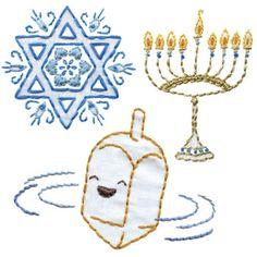 Jewish embroidery pattern iron-ons