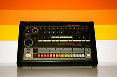 Rolland TR-808- if there's a beefy electric drum on a track, it's probably one of these (or a sample thereof).