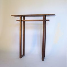 Solid Wood Furniture- New Designs- handmade custom tables, console tables, hall tables, entry tables, modern minimalist furniture for the home specializing in narrow tables for small spaces Handmade Wood Furniture, Modern Wood Furniture, Minimalist Furniture, Entryway Furniture, Modern Minimalist, Minimalist Design, Narrow Entry Table, Wood Entry Table, Wood Slab Table