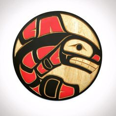"We got this carving just in time for #WhaleWednesday! 18"" for $350 #NativeArt #AboriginalBC"