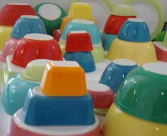 Colorful Vintage Pyrex Collection