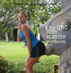 The GNC BUTT BLASTER workout. 5 moves of 20 reps. 3 rounds. No equipment.