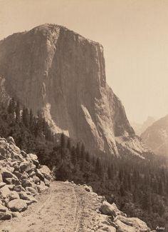 GEORGE FISKE  1835 - 1918 El Capitan from Oak Flat Road. ca. 1880s