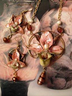 Ali di Libellula: PARURE ORCHIDEA