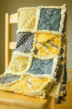 paint an old chair (goodwill or local second hand store)...and a quilt over the back ~ so easy